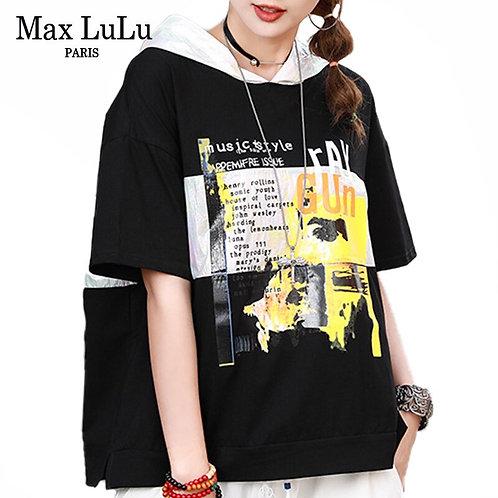 Max LuLu 2020 Summer Fashion Clothes Ladies Luxury Printed Tee Shirts