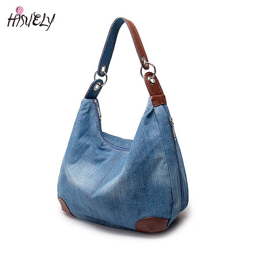 Fashion Women Causal Bags Ladies Denim