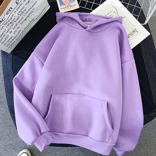 Women Solid Color Oversize Hoodie 2020 Harajuku Plus Velvet