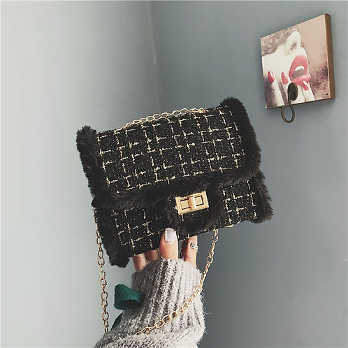 Luxury Chains Bags for Women 2020 Winter Wool Bag Fashion