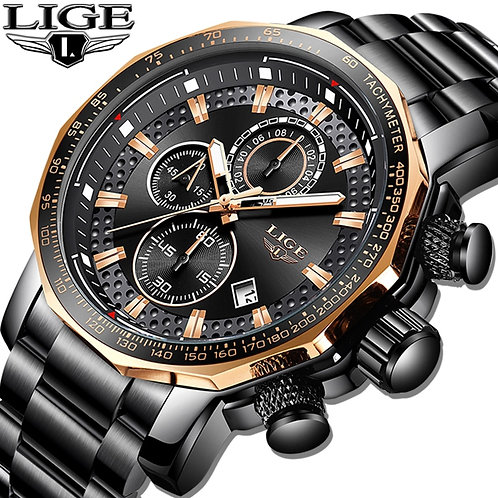 Relogio Masculino LIGE New Sport Chronograph Mens Watches