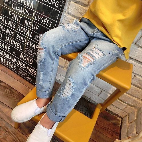 2020 New Fashion Broken Hole Kids Jeans for Girls Boys Spring Summer Jeans