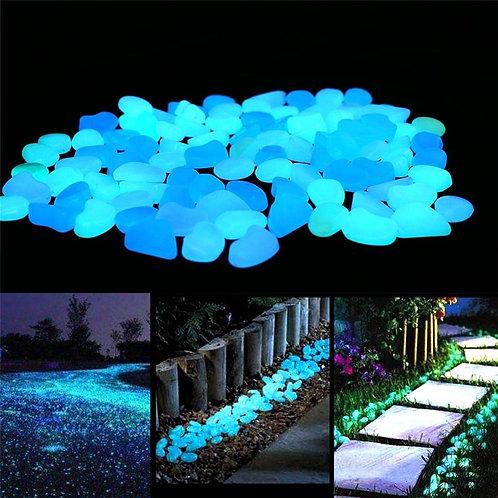100/300/500pcs Garden Glow in the Dark Luminous Pebbles for Walkways