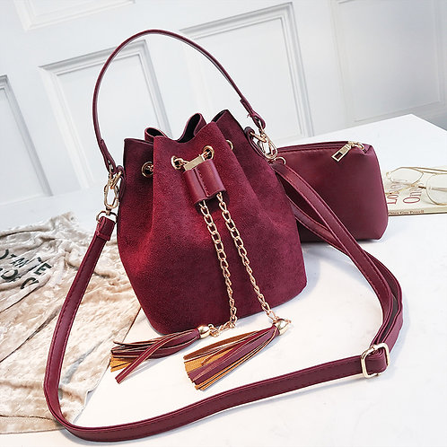 2019 New Mini Crossbody Handbags Cute Suede Bucket Bag