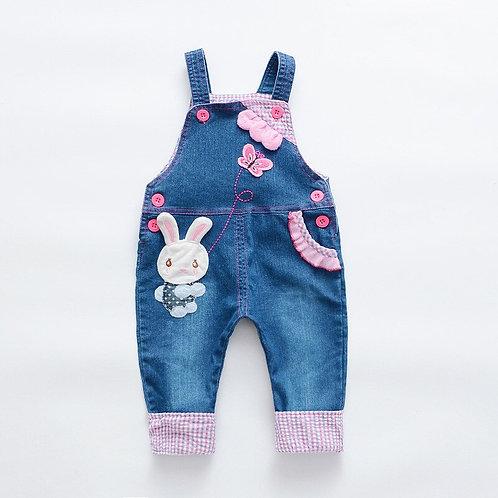 Autumn Cartoon Children Overall Baby Belt Pants Baby Boy Girl