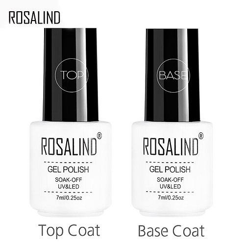 ROSALIND Top Base Coat Gel Polish UV Shiny Sealer Soak Off
