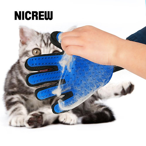 NICREW Cat Grooming Glove for Cats Wool Glove Pet Hair