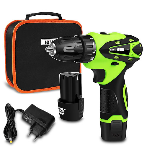 12V Electric Screwdriver Electric Drill Lithium Cordless Drill Cordless