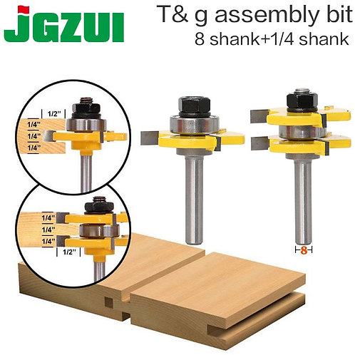 2 Pc 8mm Shank High Quality Tongue & Groove Joint Assembly