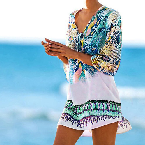 Bathing Suit Cover Ups Kaftan Beach 2020 Beach Tunic Beach