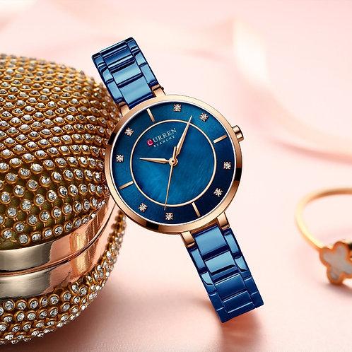 New Watches Women CURREN Fashion Luxury Rhinestone Dial Quartz Clock