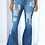 Thumbnail: Flare Jeans Women Sexy Ripped Wide Leg Jeans Denim Trousers