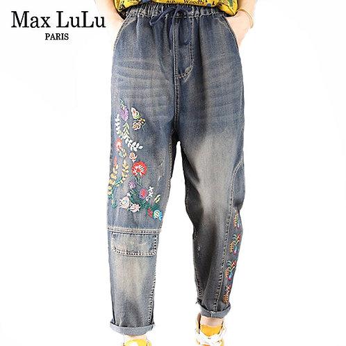 Max LuLu New Autumn Korean Brand Designer Jeans Ladies Vintage