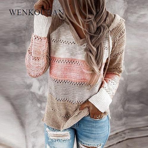 Women Sweatshirt 2020 Knitted Oversized Hoodies Casual