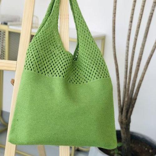 Female Korean Fashion Crochet Hollow Out Handbag