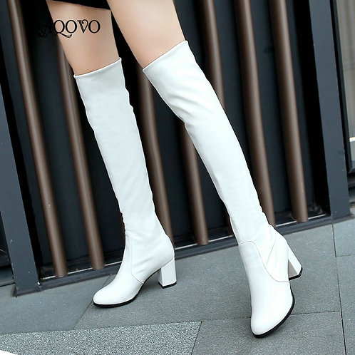 2020 Fashion Knee High Boots Women's Winter Boots Thick High