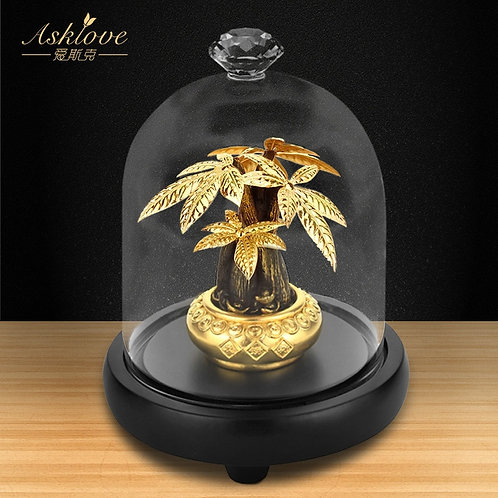 Asklove Fortune Tree Collect Wealth Ornament 24K Gold Foil Crafts