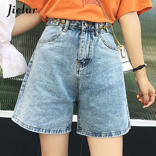 Jielur Short Jeans Women Solid Color 2020 Summer New Jean Femme