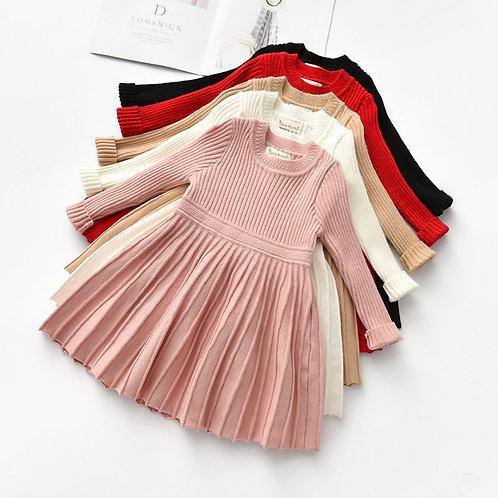 Bear Leader Long Sleeve Sweater Dress Girls Princess Baby Girl