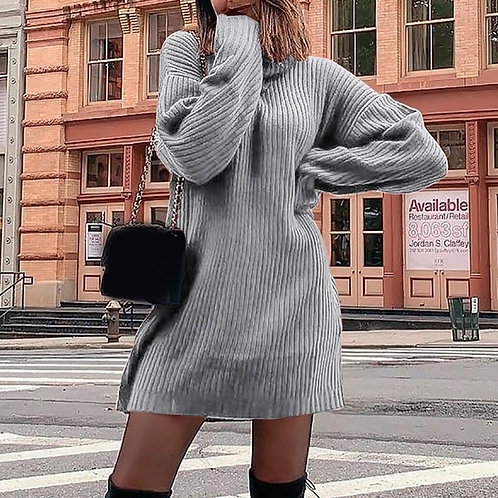 Womail Spring Dress Women 2020 Knitted Sweaters Turtleneck