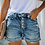Thumbnail: High Waist Crimping Women Short Jeans Summer Fashion Sexy Ripped