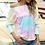 Thumbnail: New Summer Loose Sexy Tie Dye Print Short Sleeve T Shirt