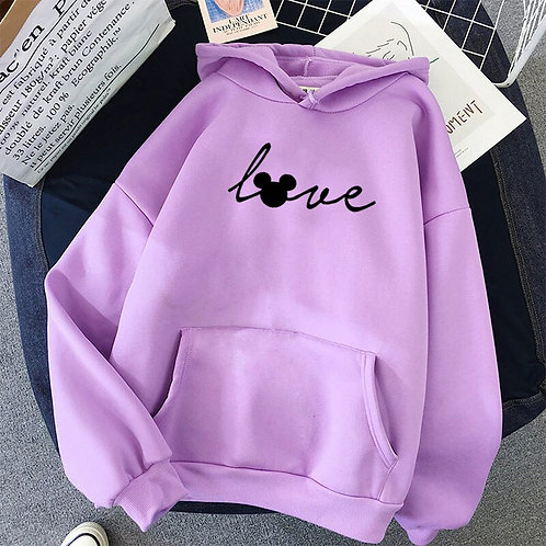 Black Letter Printed Hoodies Women Love Pink Secret Hoodie