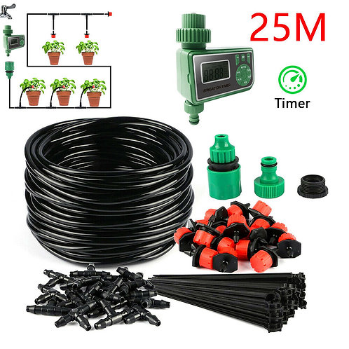 25M DIY Drip Irrigation System Automatic Watering Irrigation