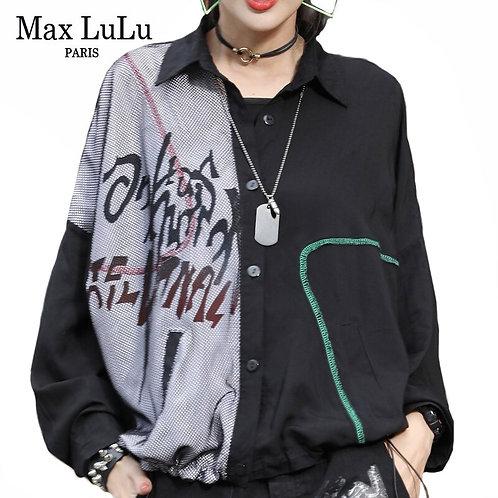 Max LuLu 2020 Korean Designer New Autumn Clothes Ladies Punk