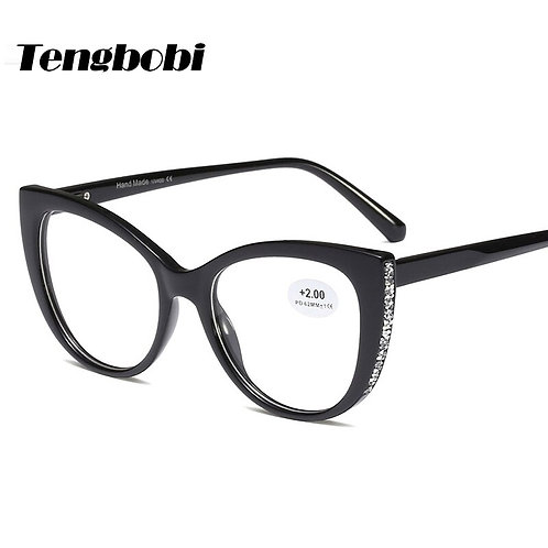 Rhinestone Reading Glasses Women Cat Eye Men Shape Reading