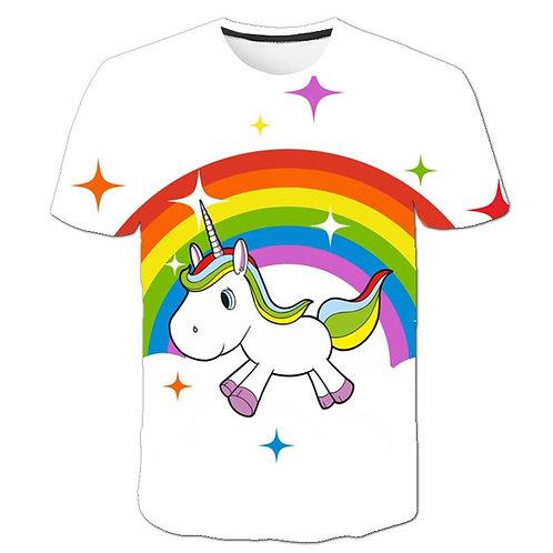 Baby Girl Unicorn T-Shirt Tops Baby Girl T-Shirt Big Girls Tee Shirts