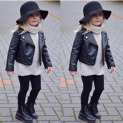 2020 Children Autumn Winter Jacket Toddler Kids PU Leather