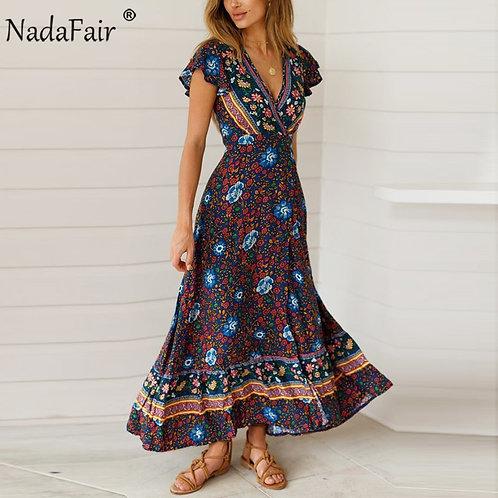 Maxi Dresses Elegant Beach Sash