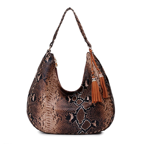 Ladies Snake Print PU Leather Bag Small Shoulder