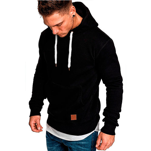 2020 Autumn Winter Warm Knitted Men's Sweater Casual Hooded