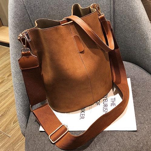 Messenger Bag Women Bucket Shoulder Bag Large Capacity Vintage