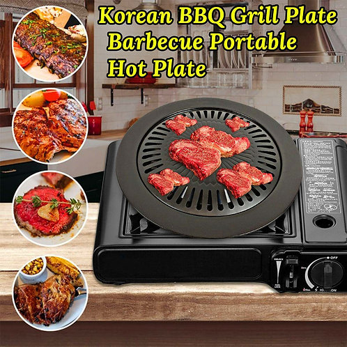 Cassette Stove Gas Stove Grill Pan 31.5cm Round Garden Party Outdoor
