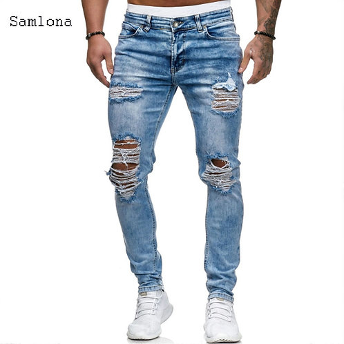 2020 European and American Style Men's Fashion Jeans Casual