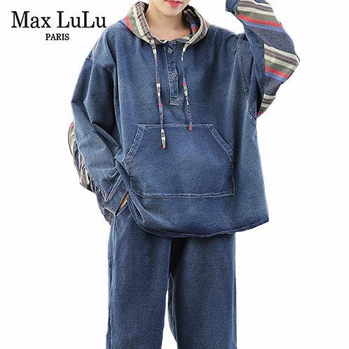 Max LuLu 2020 Spring Korean Fashion Ladies Loose Two Pieces Sets Womens