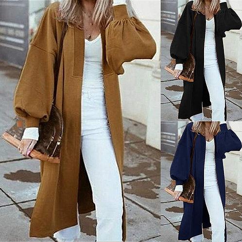 2020 ZANZEA Oversized Women Long Coats Casual Loose Lantern