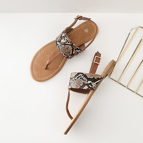 Women's Flat Sandals Casual Wild Beach Shoes Clip Toe Summer