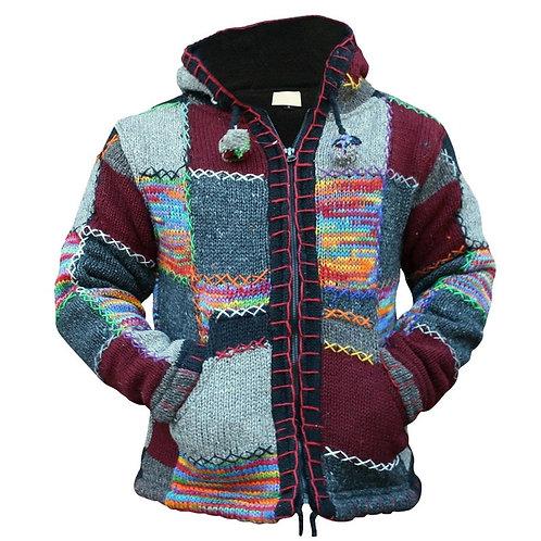 2020 Zipper Men Jackets Autumn Winter Casual Fleece Patchwork