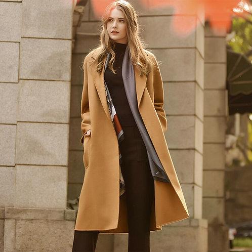 Double-Sided Cashmere Coat Woolen Coat Women's Mid-Length