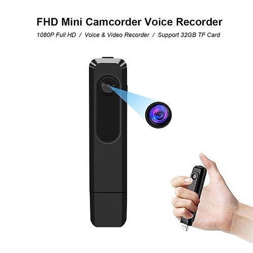 Wearable Mini Camera 1080P Small Audio Voice Recorder Portable
