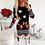 Thumbnail: Christmas Bodycon Dresses for Women 2020 Fashion Xmas Print