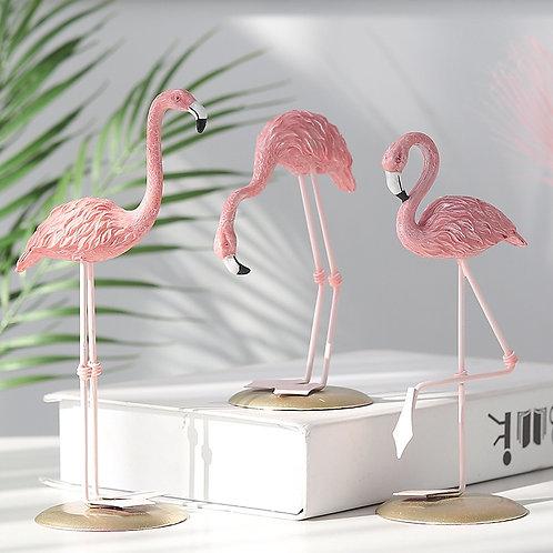 3 Style Resin Flamingo Figurine Modern Simulation Animal Statue