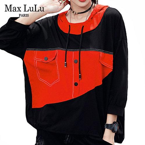 Max LuLu New 2020 Autumn Korean Fashion Tops Women Punk