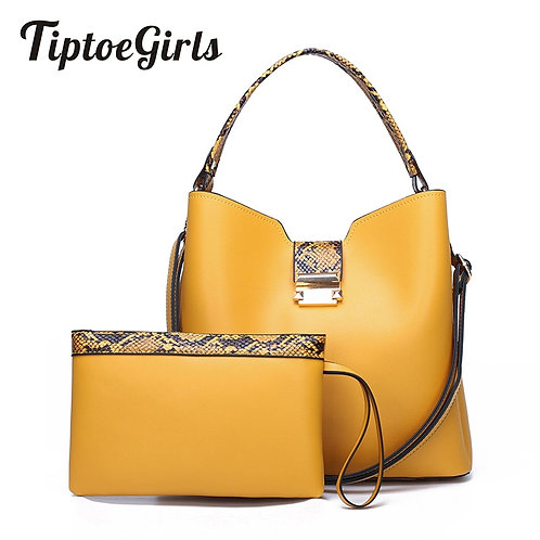2020 Spring Autumn New Fashion Bags Yellow Contrast Composite Bag Fashion