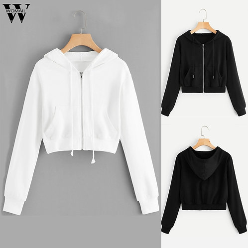 Women Hoodies Sweatshirts Women Casual Long Sleeve Zipper