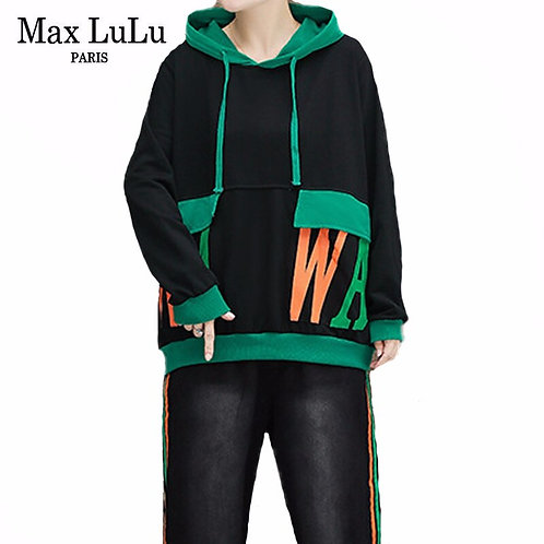 Max LuLu 2020 Autumn Korean Womens Casual Hoodies and Pants Ladies